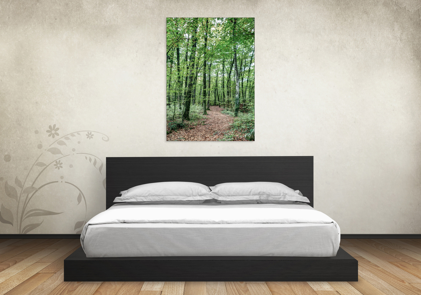 Path Between Trees - Canvas in a Bedroom