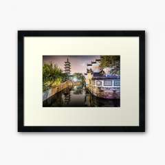 Nanxiang Ancient Town (Shanghai, China) - Framed Art Print