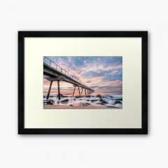 Sunrise at Pont del Petroli (Badalona, Catalonia) - Framed Art Print