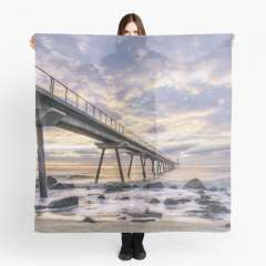 Sunrise at Pont del Petroli (Badalona, Catalonia) - Scarf