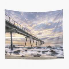Sunrise at Pont del Petroli (Badalona, Catalonia) - Tapestry