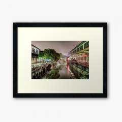 Nanxiang Ancient Town at Night (Shanghai, China) - Framed Art Print