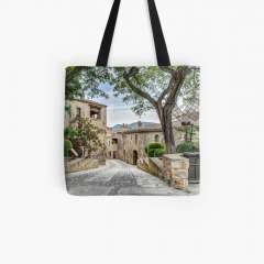 Pals, A Lovely Medieval Village (Catalonia) - All Over Print Tote Bag