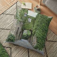 Medieval Village of Peratallada (Catalonia)  - Floor Pillow