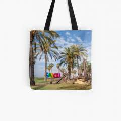Promenade Jaume I (Salou, Catalonia) - All Over Print Tote Bag