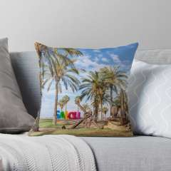 Promenade Jaume I (Salou, Catalonia) - Throw Pillow