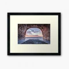 A Window to The Mediterranean Sea, Altafulla (Catalonia) - Framed Art Print