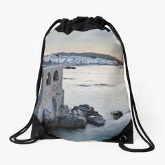 Sunrise At Calella de Palafrugell (Catalonia) - Drawstring Bag