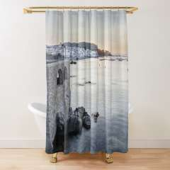 Sunrise At Calella de Palafrugell (Catalonia) - Shower Curtain