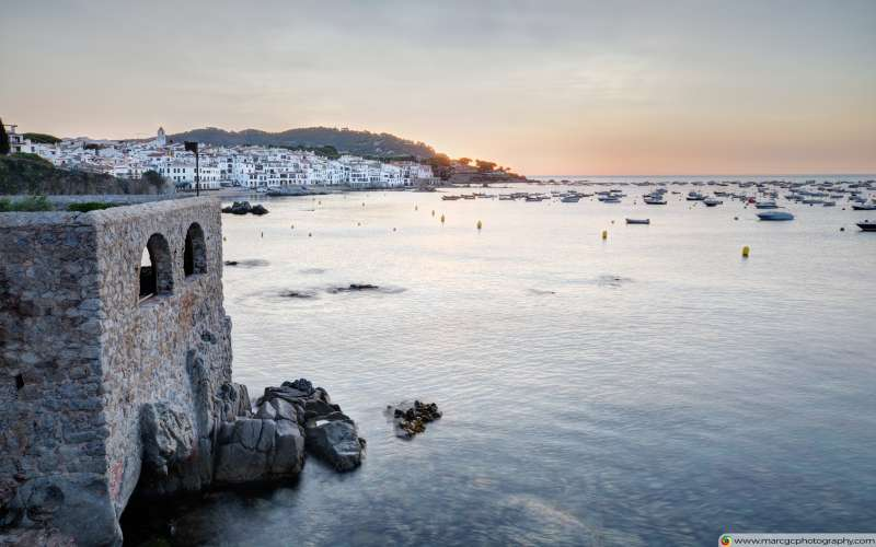 Sunrise At Calella de Palafrugell (Catalonia) Free 4K HD Wallpaper