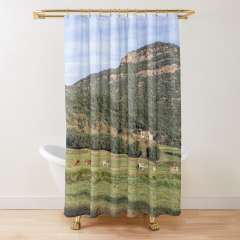 Walking Around Santa Pau (La Garrotxa, Catalonia) - Shower Curtain