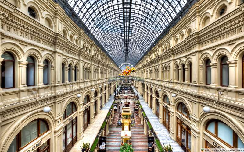 GUM Department Store In Moscow Free 4K HD Wallpaper